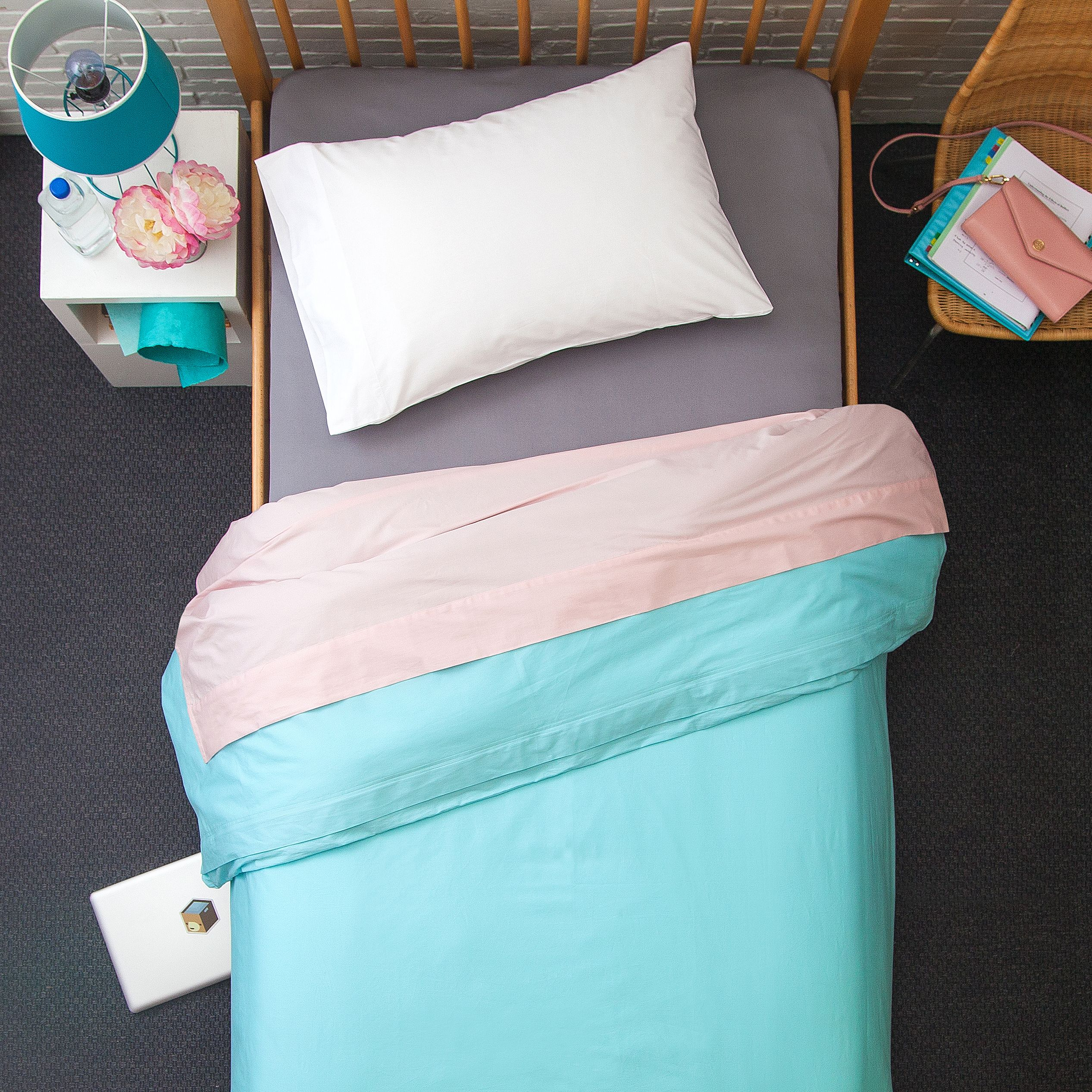 Boxt Teddy Twin XL-4 Piece Bedding Bundle- Champaign