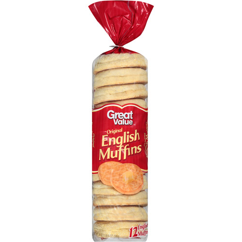 Great Value Original English Muffins, 12 count, 24 oz