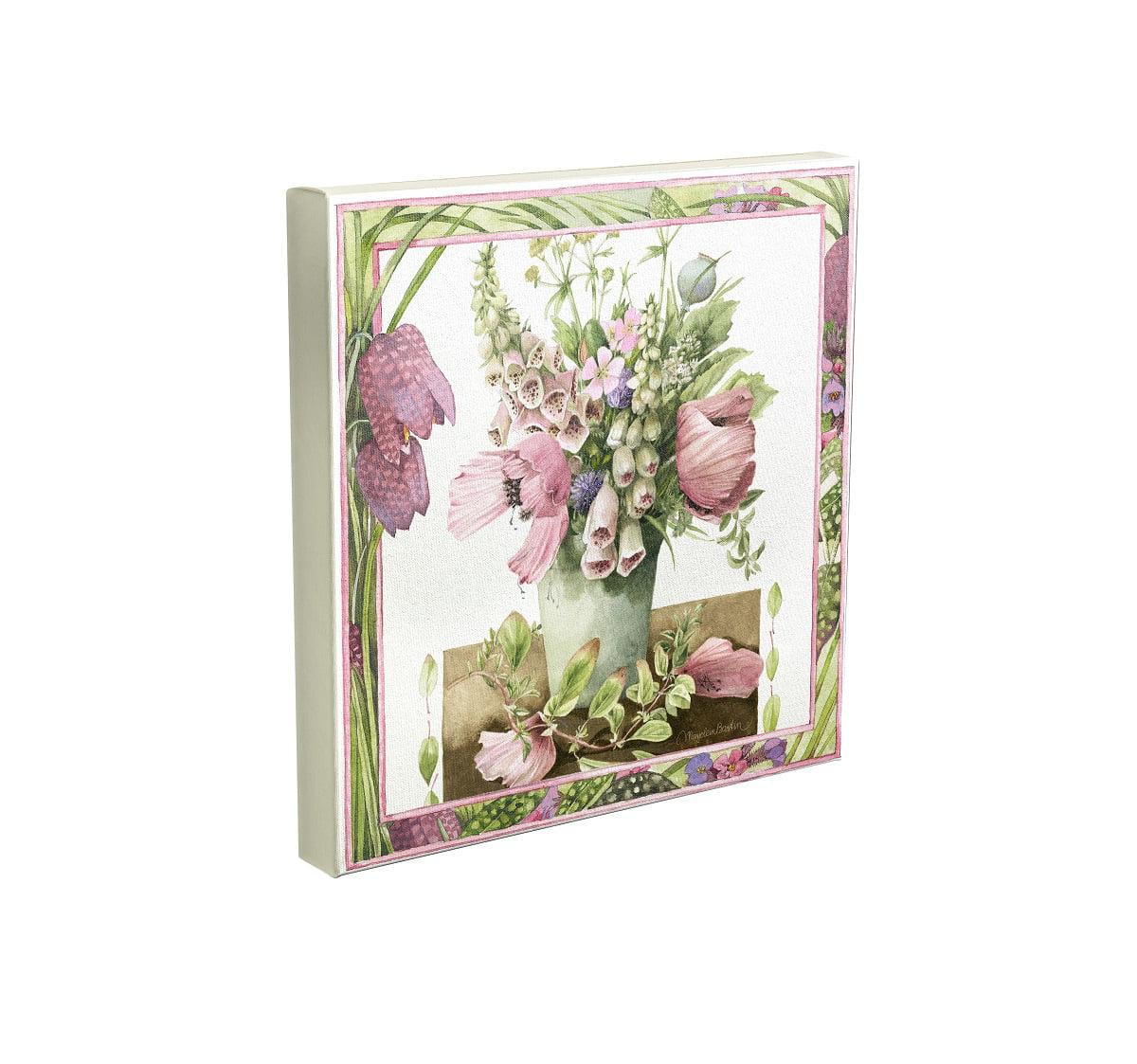 Marjolein Bastin Birdhouse Bouquet 10 x 10 Gallery Wrapped Canvas