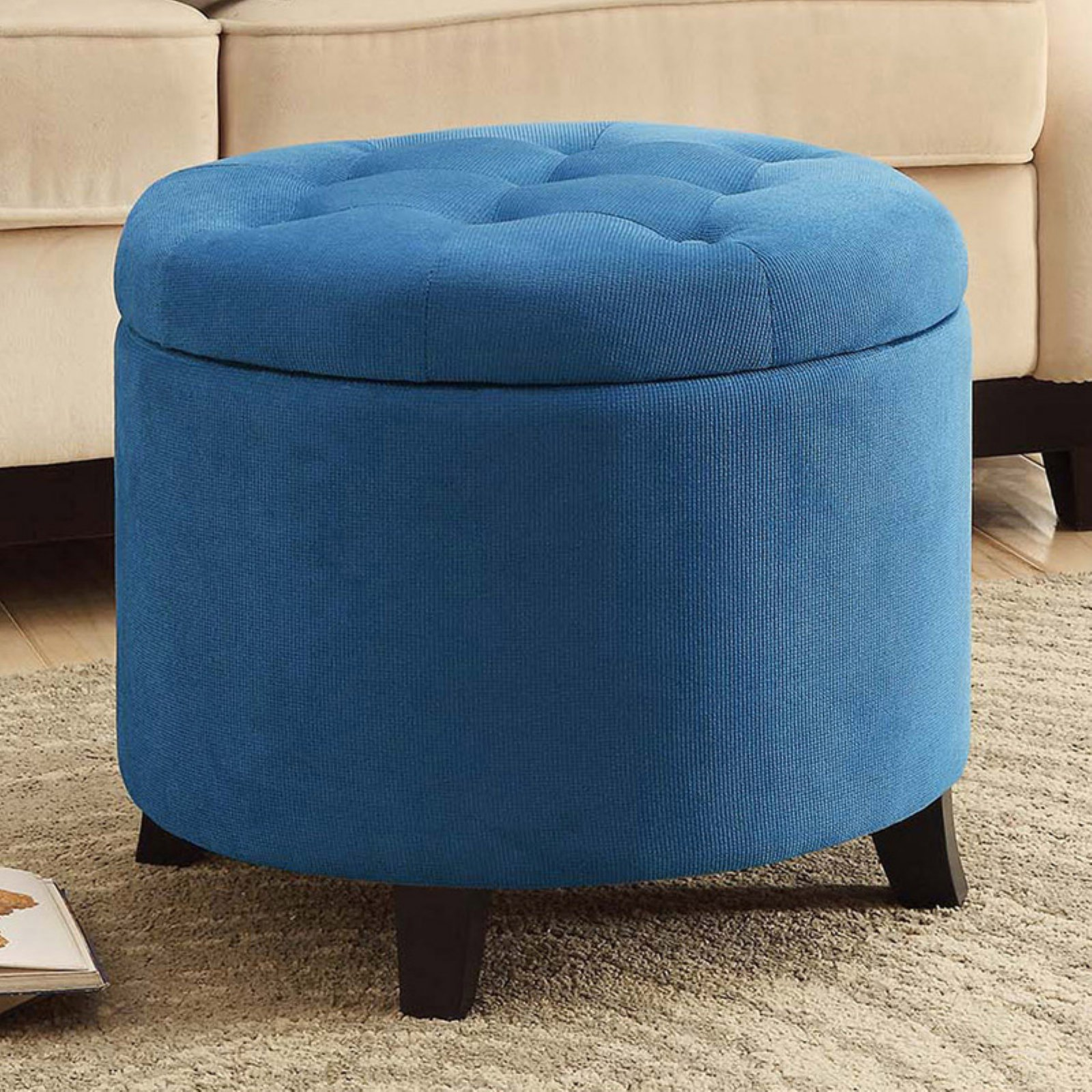 Convenience Concepts Designs4Comfort Round Ottoman, Multiple Colors by Convenience Concepts