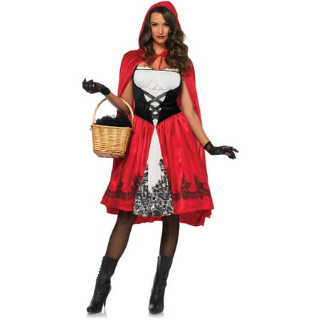 Leg Avenue Adult Classic Red Riding Hood 2-Piece - Little Red Riding Hood Hunter Costume