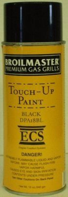 broilmaster 12 oz high temperature black touchup paint - Broilmaster