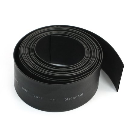 600V 125C 5 Meters Black Insulated Cover Heating Shrinkable Tube Hose