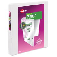 "Avery 1"" Durable View Binder, Slant Ring, White, 220 Sheets"