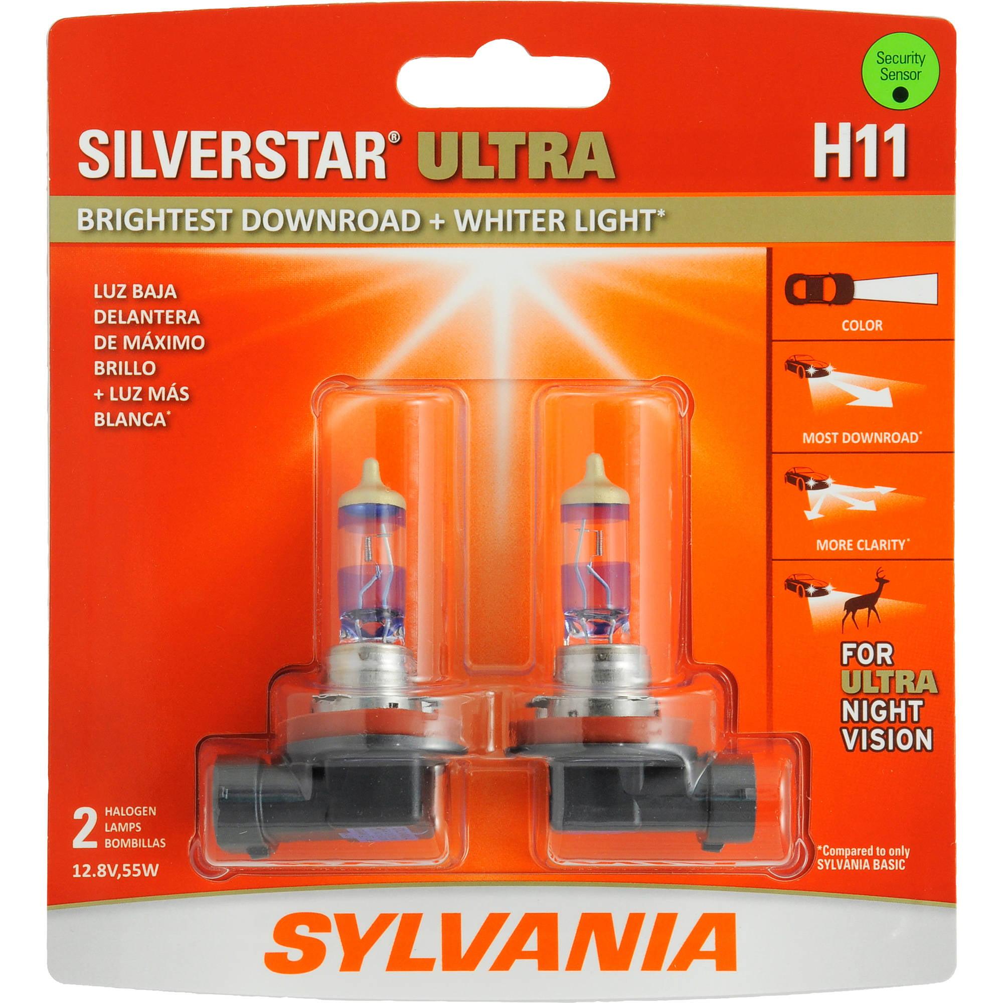 Sylvania H11 SilverStar ULTRA Headlight, Contains 2 Bulbs