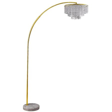 86 Quot Tall Quot Clos Glam Quot 2 Tiered Arch Floor Lamp On Marble