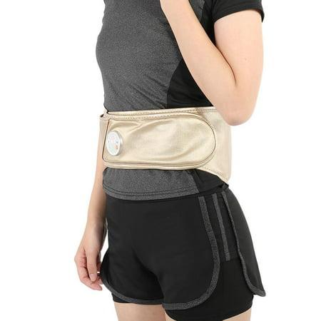 Hilitand Waist Therapy Massager Vibration Fiber Carbon Heat Moxibustion Hot Waist Care Belt with Battery, Waist Massage Belt, Heat Waist