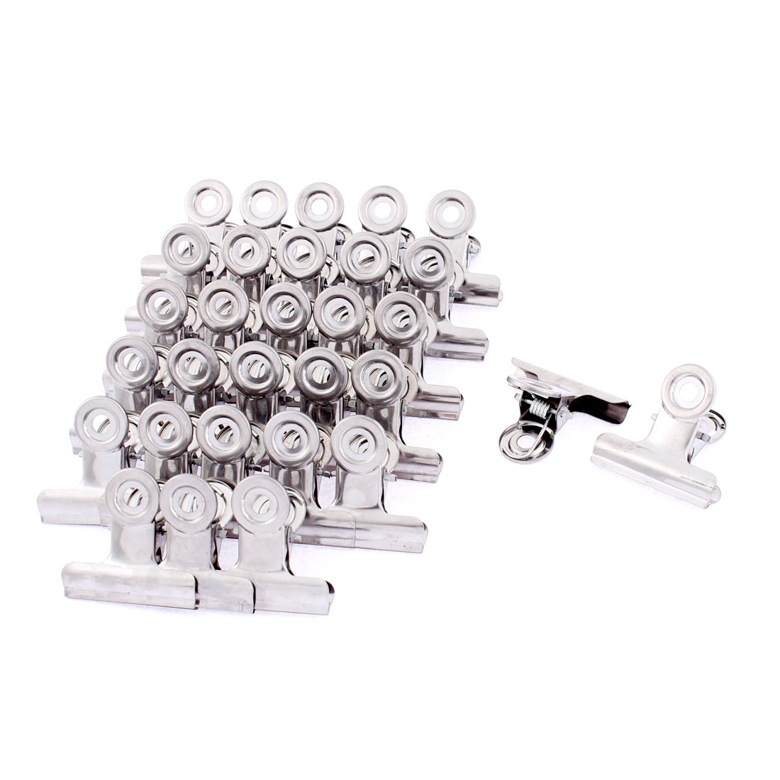 Unique Bargains 30 Pcs Household Stainless Steel Nonslip Multipurpose Clothing Clothespins Clips Silver Tone