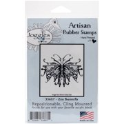 """Joggles Cling Stamp 3.75""""x3""""-zen Butterf"""