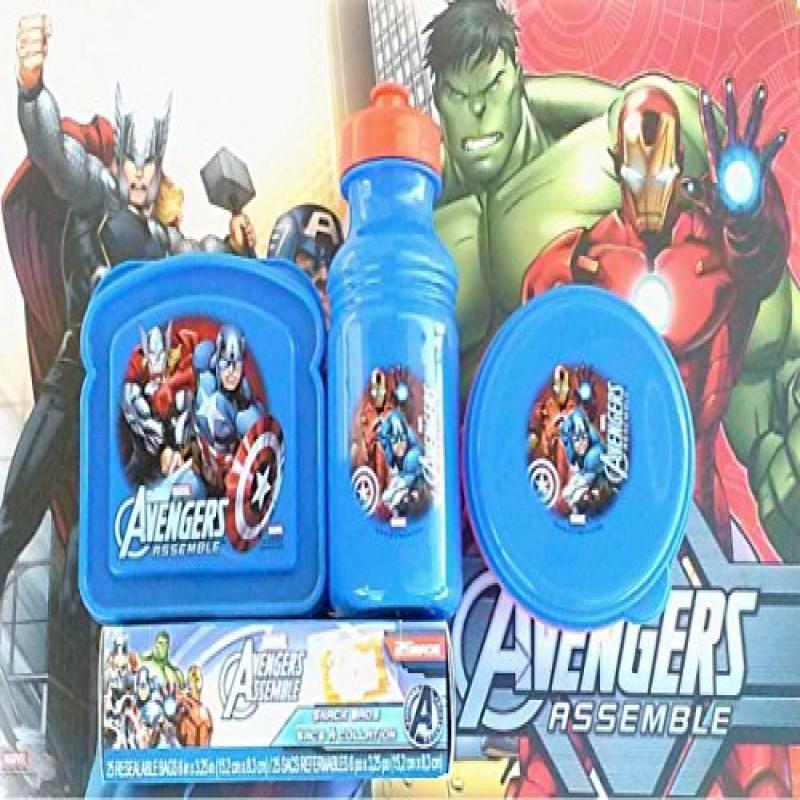 Avengers BPA School Lunch Set Value Pack Sandwich box, Sn...