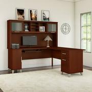 Bush Furniture Somerset 72W L Shaped Desk with Hutch