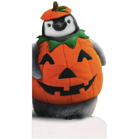 Avanti Press Penguin Pumpkin Little Big Funny Halloween Card