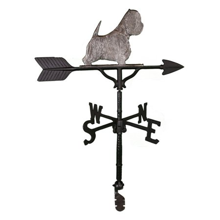 Swedish Iron West Highland White Terrier Weathervane - 32 in.