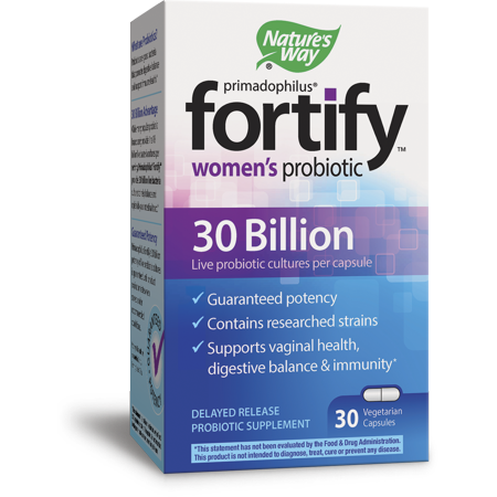 (2 pack) Nature's Way Fortify Women's Probiotic, 30 Billion Live Cultures, 30