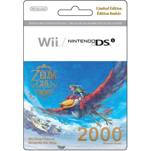 Nintendo Points Card - Legend Of Zelda (