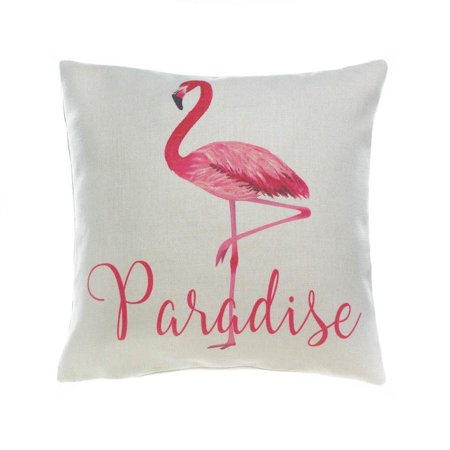 Wondrous White Throw Pillows Colorful Flamingo Decorative Square Throw Pillow For Couch Walmart Com Cjindustries Chair Design For Home Cjindustriesco
