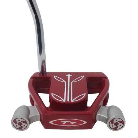 Logo Mallet Golf Putter (T7 Twin Engine Red Mallet Golf Putter Right Handed with Alignment Line Up Hand Tool 36 Inches Tall Men's Perfect for Lining up Your Putts )