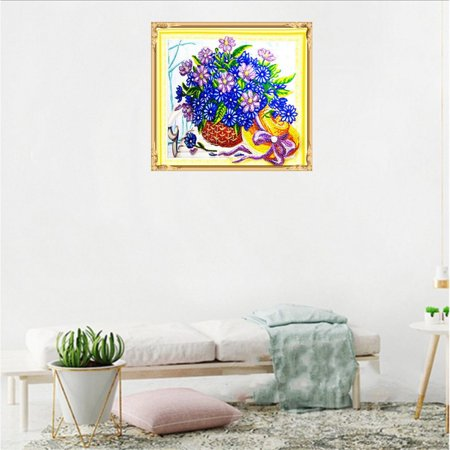 HZ010 Flower Basket Diamond Painting Embroidery Cross Kit Home Decoration - image 3 of 6