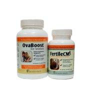 Ovaboost and FertileCM for Women - 1 Month Supply - Fertility Pills for Women