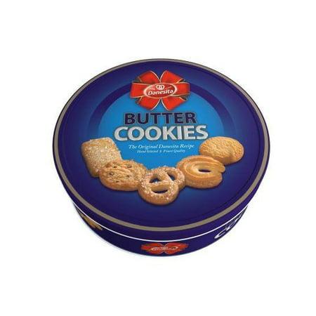 Santa Cookie Tin (Butter Cookies (Danesita) 12 oz (340g) Tin)
