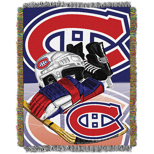 """NHL 48"""" x 60"""" Home Ice Advantage Series Tapestry Throw, Canadiens"""