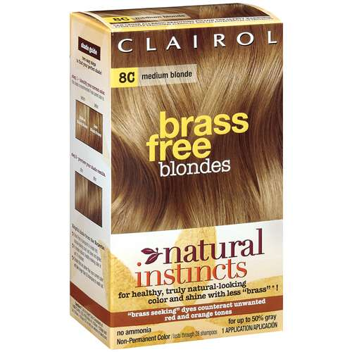 Clairol Medium Blonde Natural Instincts Brass Free Blondes Hair Dye 1 Ct Walmart Com