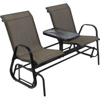 Seasonal Trends Double Glider With Console, Steel Frame,