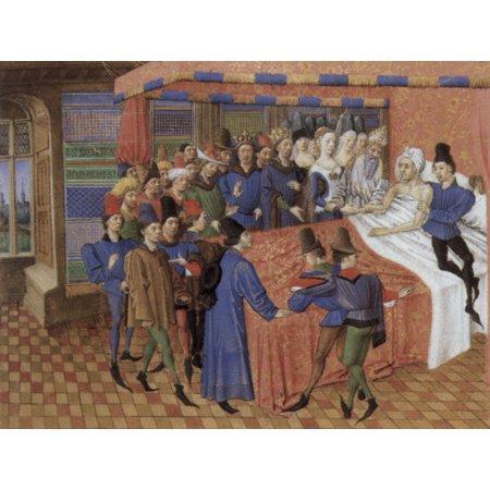 "Framed Art for Your Wall Meister des Jouvenel des Ursins - Miniature from the ""La Teseida"" of Boccaccio, scene [2] 10 x 13 Frame"