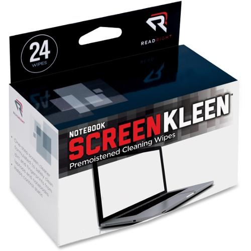 Read Right Notebook Screen Cleaning Pad - Lint-free - 24 / Box