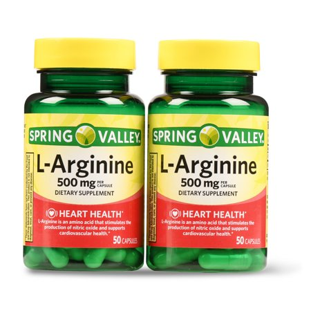 Spring Valley L-Arginine Capsules, 500mg, 50 Ct, 2