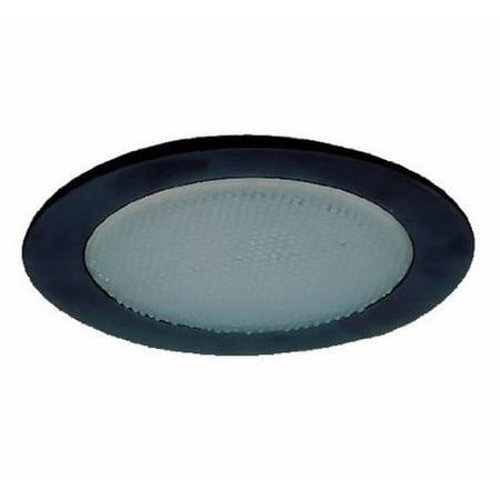 4 in. Albalite Shower Trim, Black