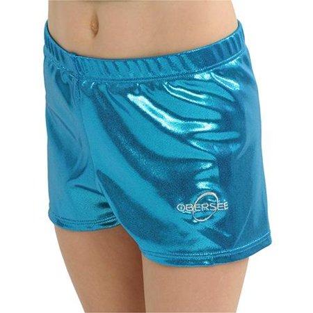 5eeab21901c4 Obersee - Obersee Gymnastics Shorts - Turquoise - Walmart.com