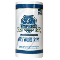 """Empress 2-Ply Kitchen Roll Towels, 8"""" x 11"""", White (Case of 30 Rolls)"""
