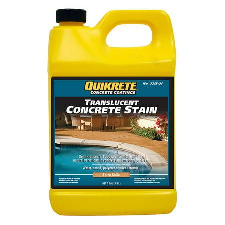 Slate Concrete Stain - Quikrete Translucent Concrete Stain Terra Cotta gal