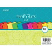 Colorbok Bright's Designer Paper Photo Mats, 100 Piece