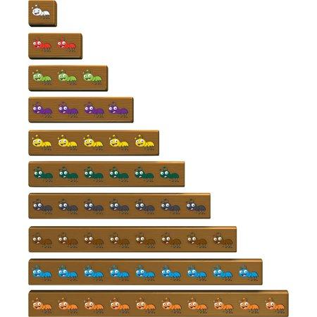 Cuisenaire Rods, LRNLER7478, Cuisenaire Jr Ants On Log Activity Set, 20 / Set, Multi