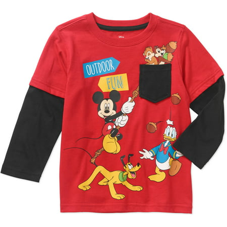 Mickey Mouse Toddler Boy Stripe Long Sleeve T Shirt