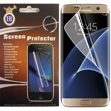 For Samsung Galaxy S7 Edge Anti Shock Clear Full Screen (Best Screen Protector For Galaxy S7 Edge)