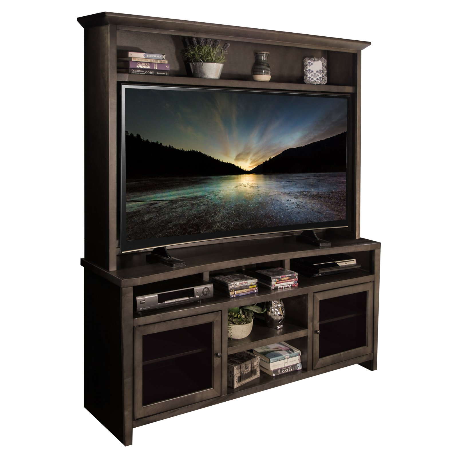 Legends Furniture Vox Curved TV Console with Optional Hutch