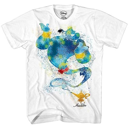 Aladdin Genie Ink Blob Alladin Lamp Movie Disney World Disneyland Funny Mens Adult Graphic Tee T-Shirt Apparel - Funny Family Disney Shirts