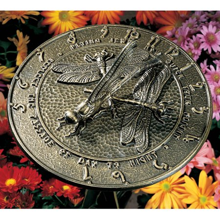 - Dragonfly Sundial, French Bronze