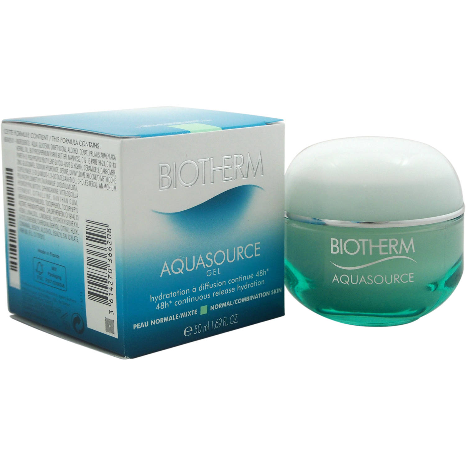 Biotherm Aquasource Gel 48H Continuous Release Hydration, 1.69 fl oz