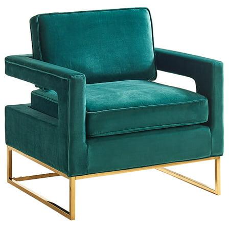 Admirable Noah Green Velvet Accent Chair Machost Co Dining Chair Design Ideas Machostcouk