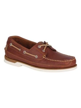 Men's Sperry Top-Sider Mako 2-Eye Canoe Moc Leather Boat Shoes