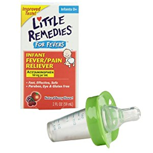 Little Remedies Fever Pain Reliever with Medicine Pacifier Dispenser, Green