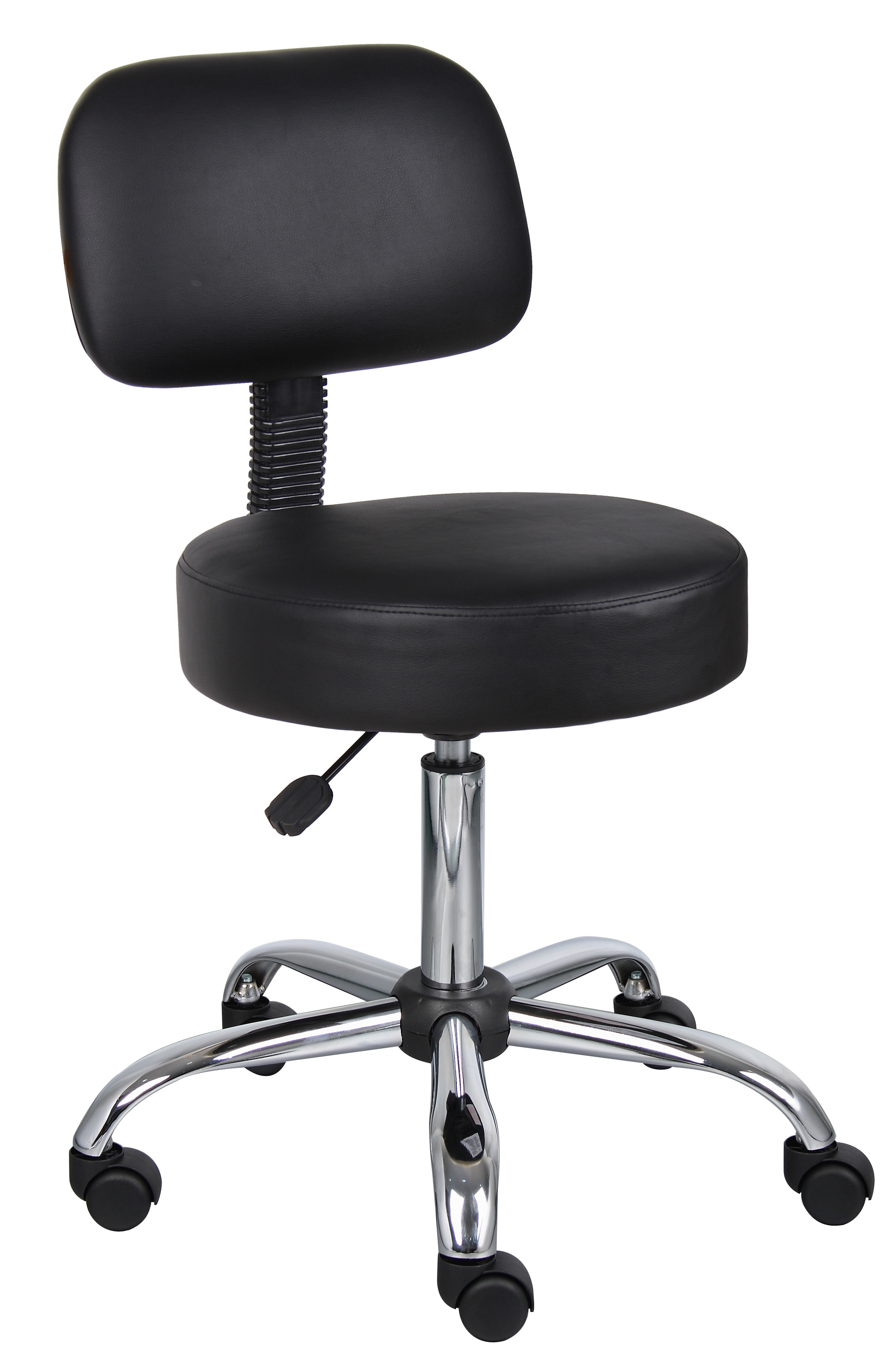 Boss Office U0026 Home Adjustable Rolling Stool With Back