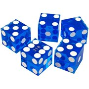 Trademark Poker 19mm A Grade Serialized Set of Casino Dice (Blue)