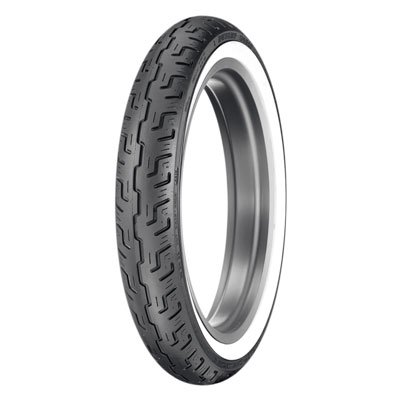 100/90-19 (57H) Dunlop D401 Front Motorcycle Tire Wide White Wall for Harley-Davidson Sportster 1200 Low XL1200L 2006-2011