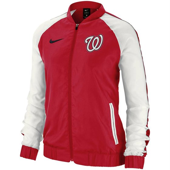 Washington Nationals Nike Women S Varsity Full Zip Jacket Red