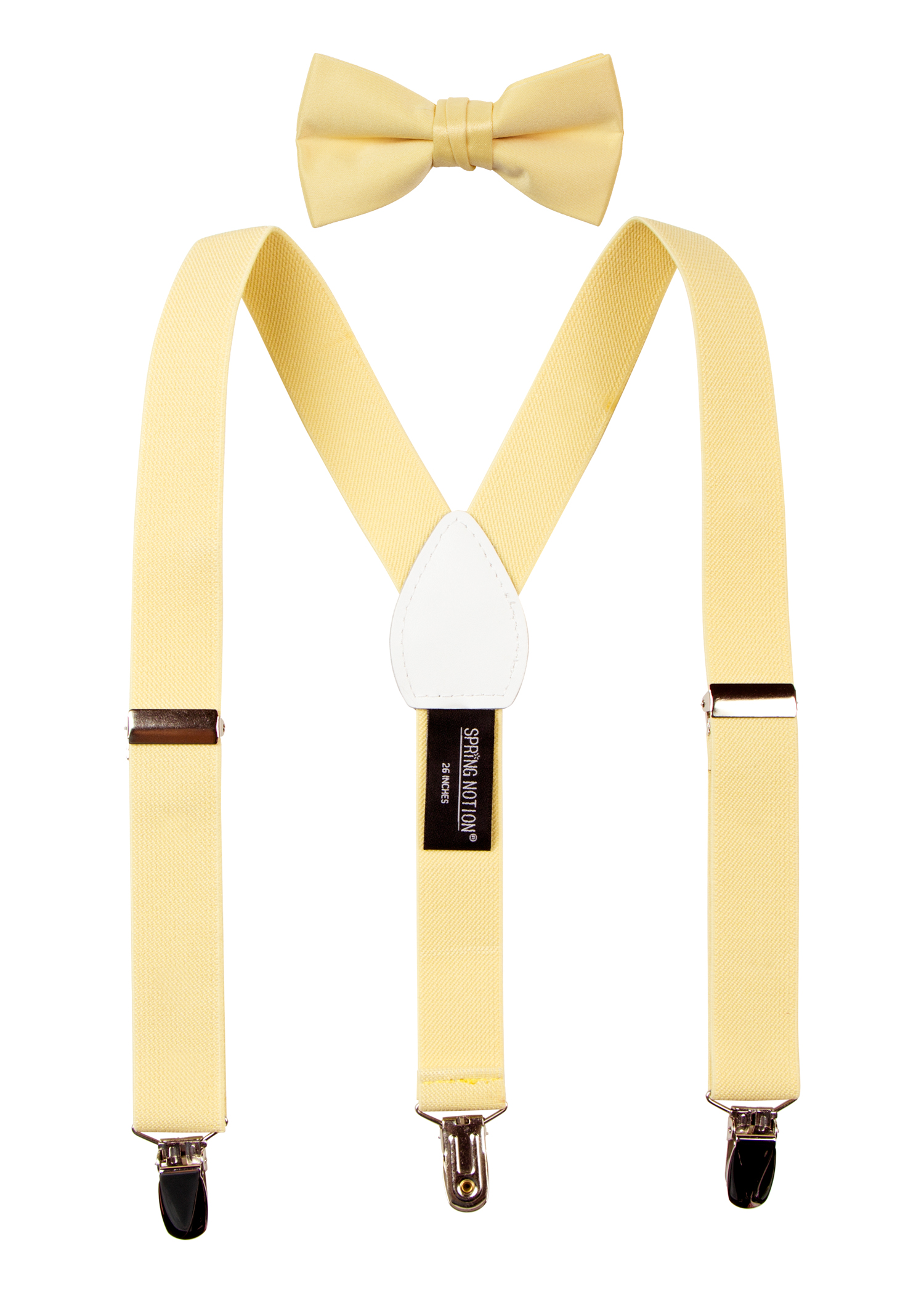 Spring Notion Boys' Suspenders and Solid Color Bowtie Set